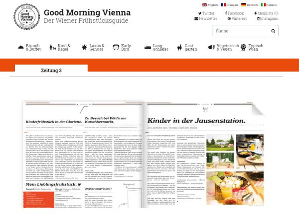 Frühstückszeitung Good Morning Vienna