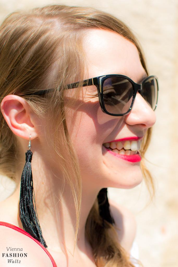 DIY Statement Ohrringe und Haarspange mit Fransen