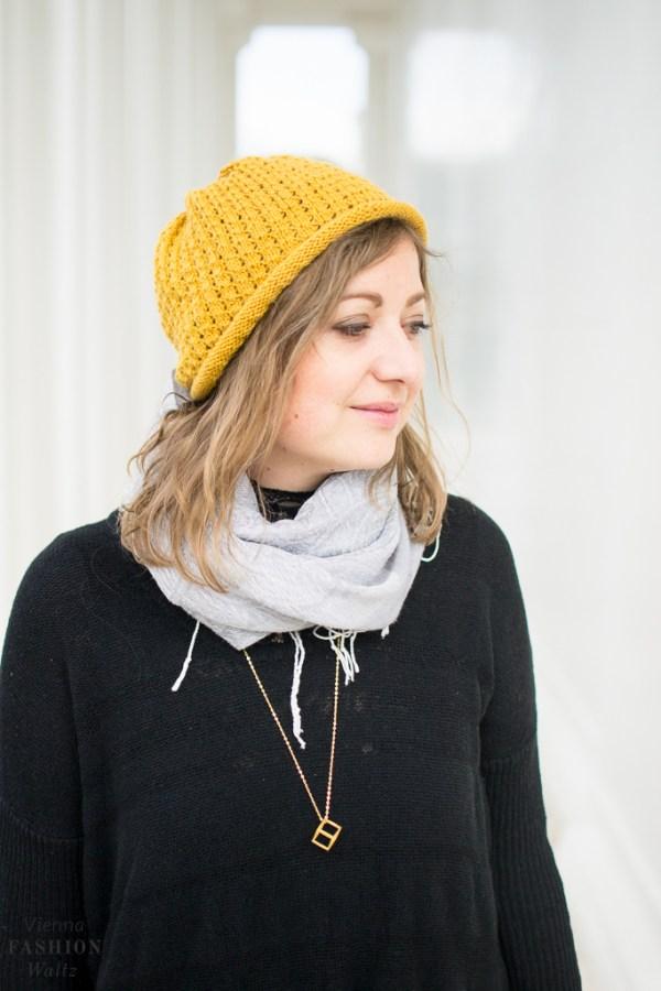 DIY Mütze stricken | Kostenlose Strickanleitung Mütze mit Lochmuster
