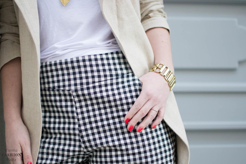 Vichy Karo Shorts Zara