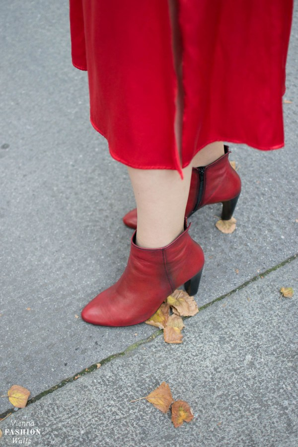 Red All Over Outfit with hot red boots