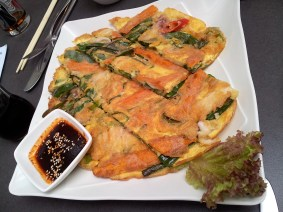 A Korean vegetable omelette