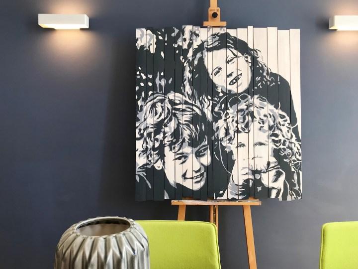 Innenraumgestaltung durch einzigartige Porträts