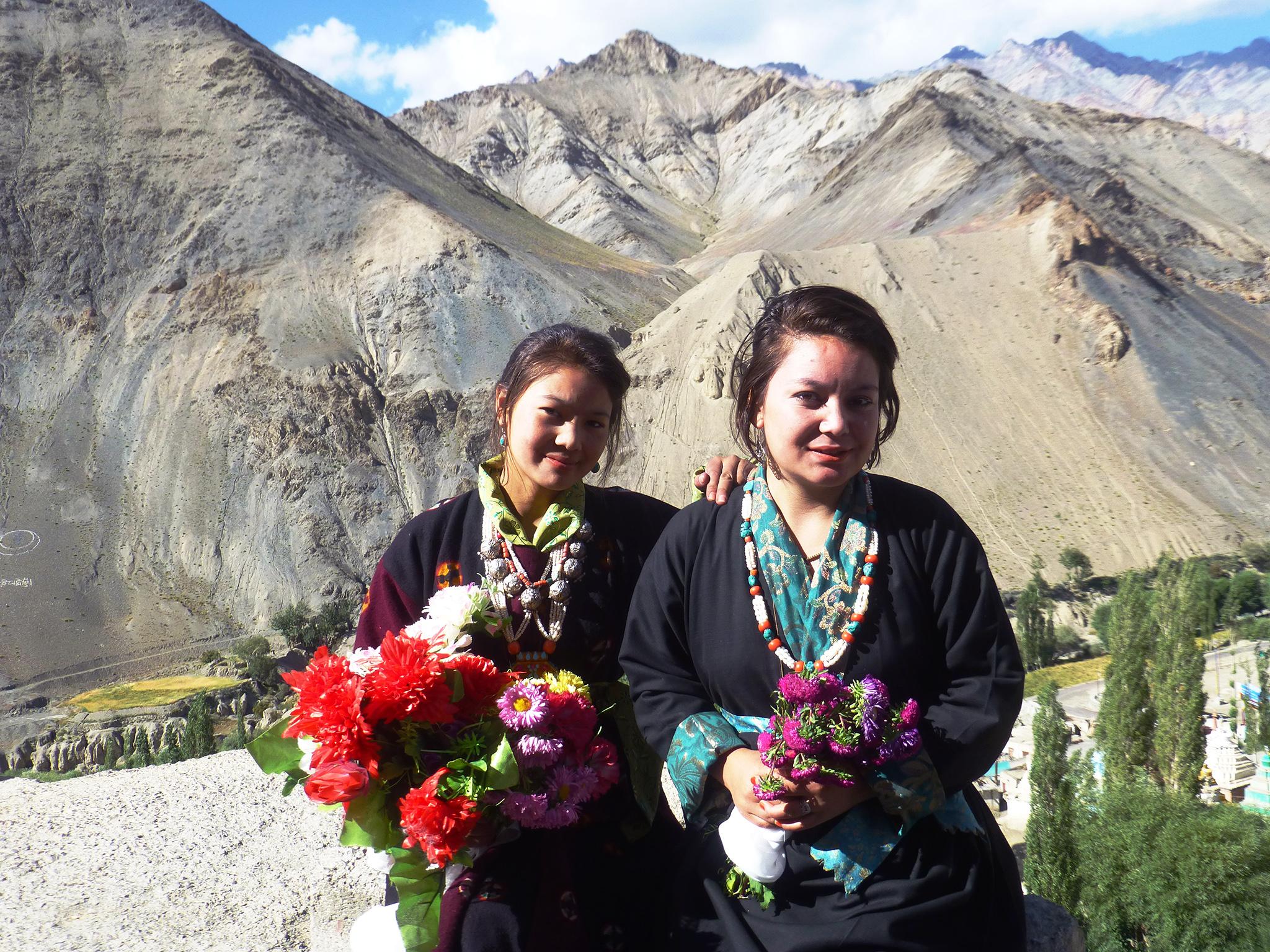 Portrait de jeunes femmes à Lamayuru