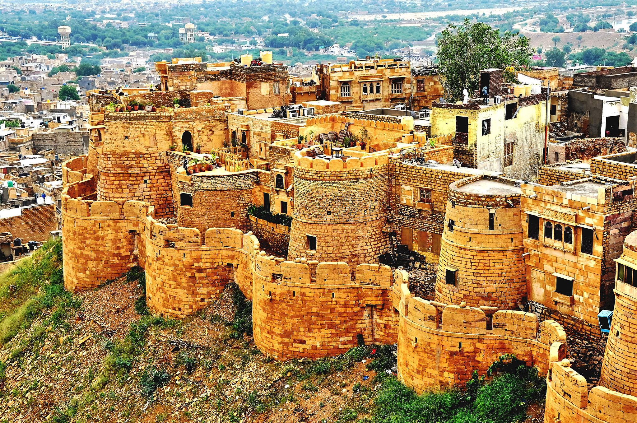 Forteresse de Jaisalmer, la ville dorée en Inde
