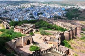 vue sur la ville bleue du Rajasthan
