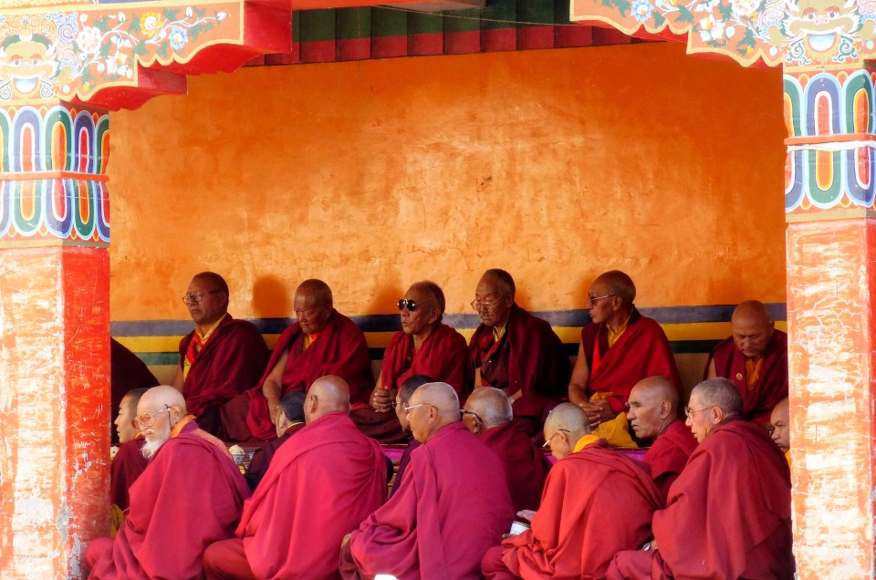 Cérémonie religieuse au monastère de Lamayuru.