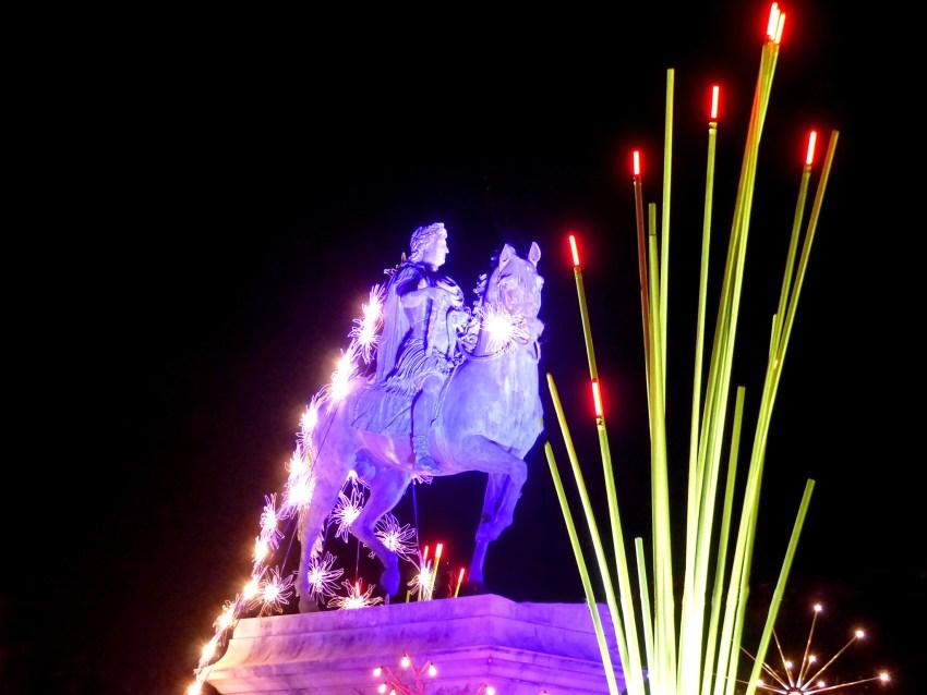 Statue équeste de Louis XIV à Lyon