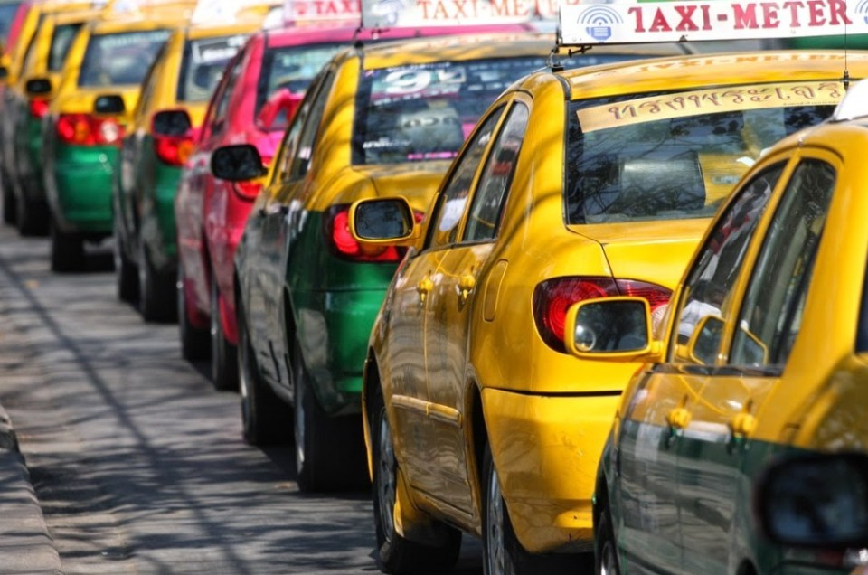Un taxi pour Chiang Mai.