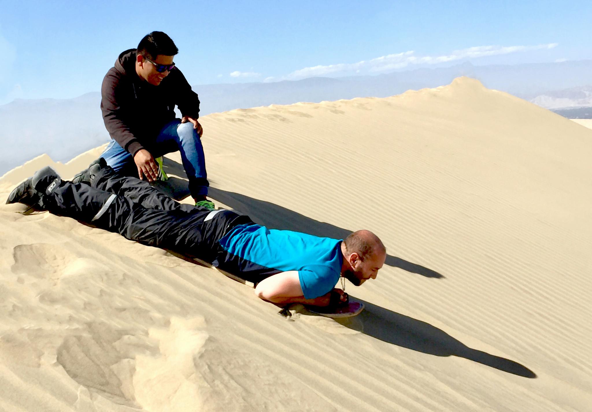 Surf sur les dunes