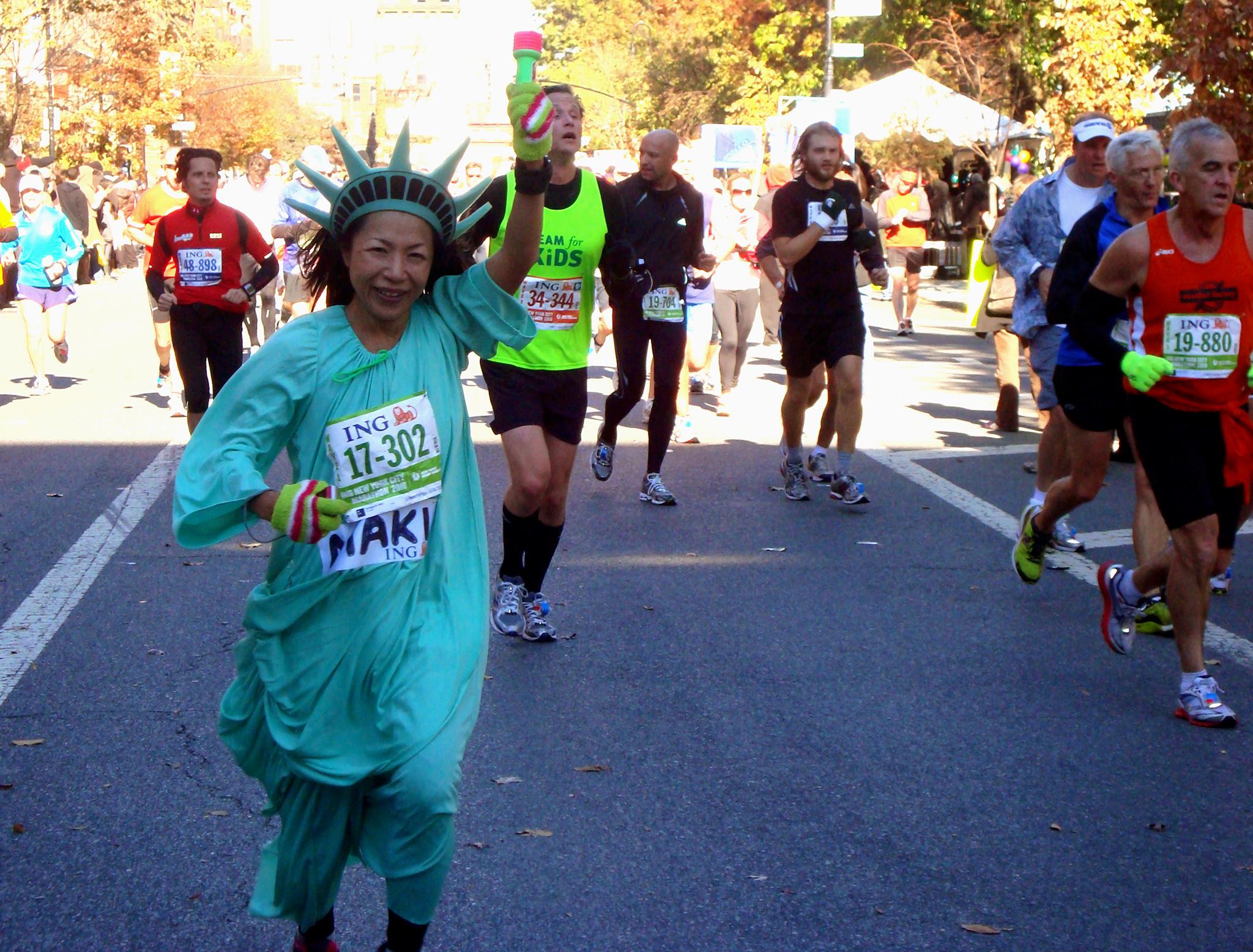 Marathonienne déguisée