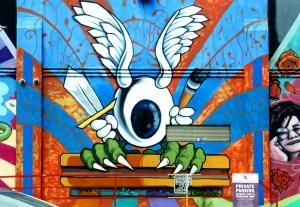 Graffiti sur mur San Francisco