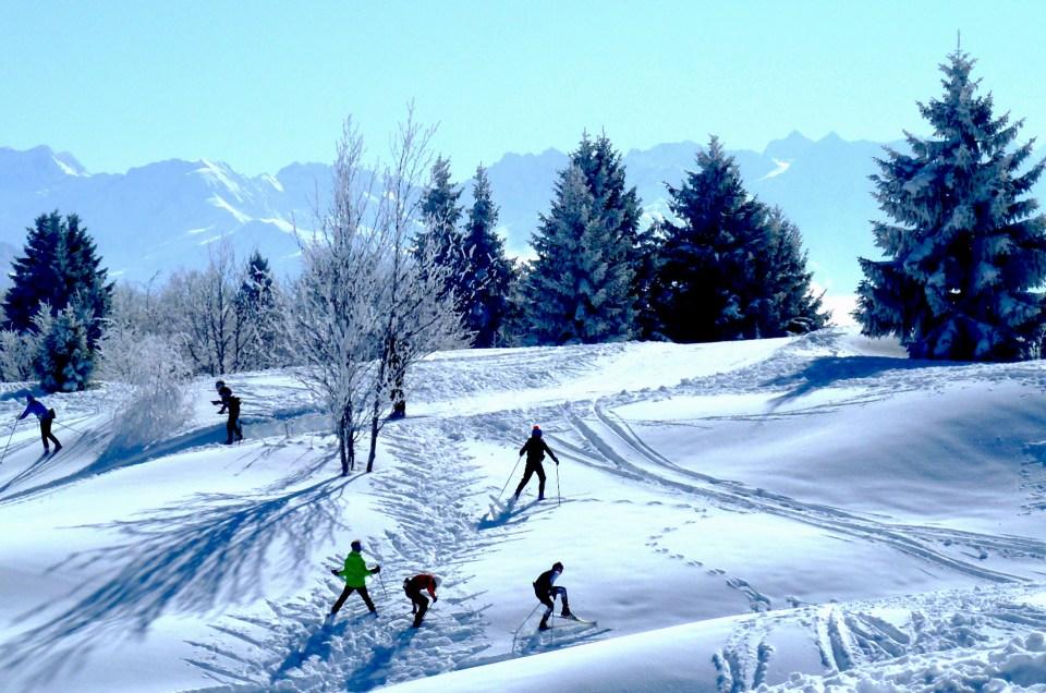 Prêts pour une sortie ski de fond à La Féclaz ?