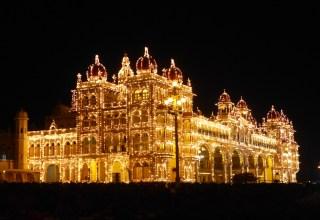 Palais de Mysore illuminé