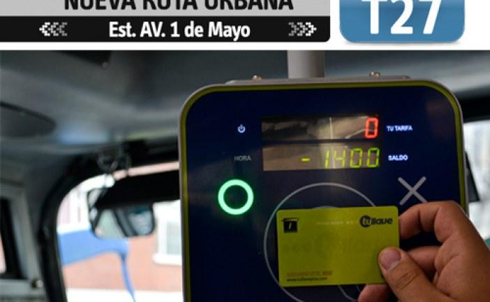 Nuevo servicio SITP ruta T27 San Cristóbal
