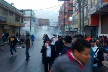 Enfrentamientos entre Policía y comerciantes de San Andresito de San José en Bogotá