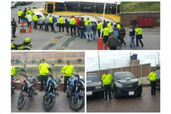 Policía recupera 17 vehículos robados en Bogotá