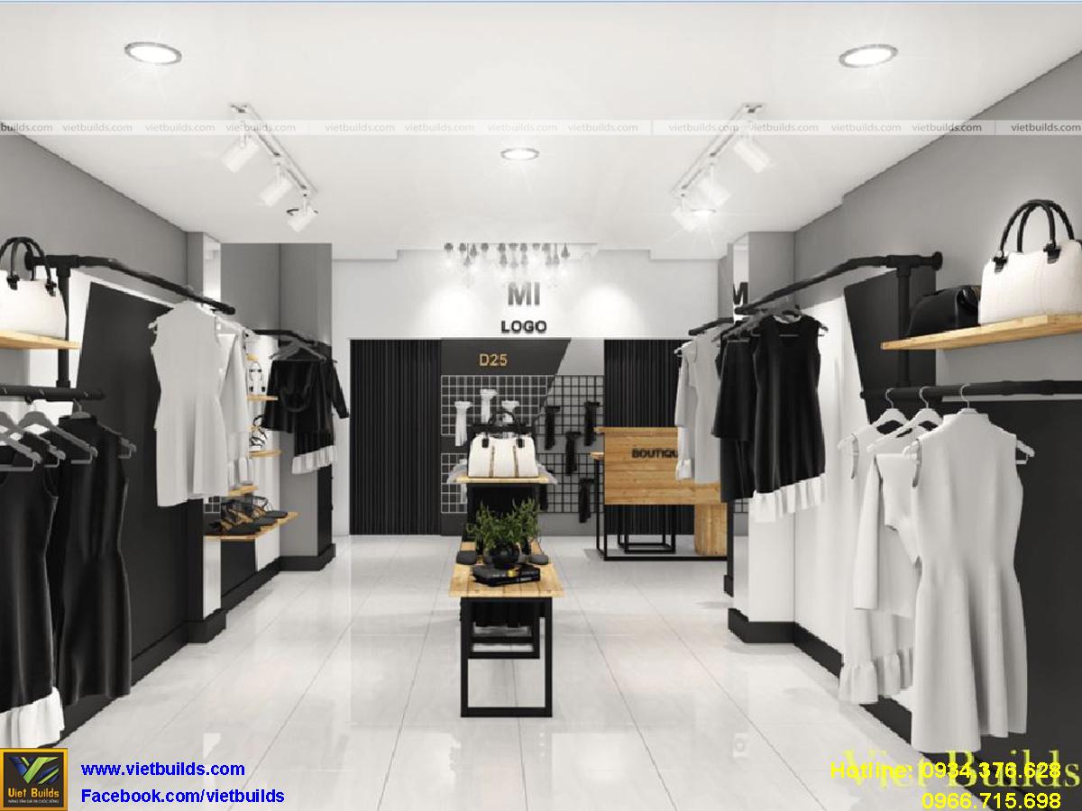 thiết kế thi công nội thất cửa hàng thời trang