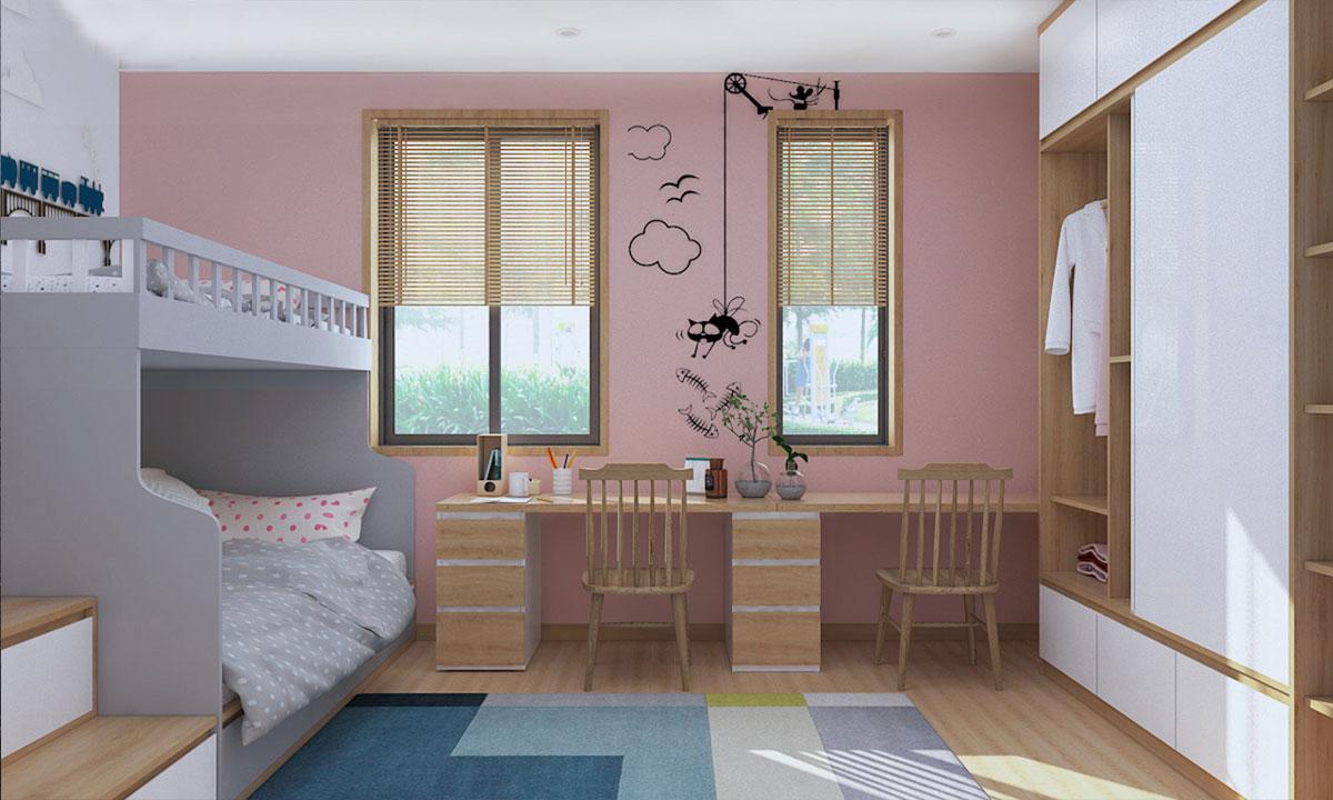 thiết kế nội thất nhà chung cư 65m2