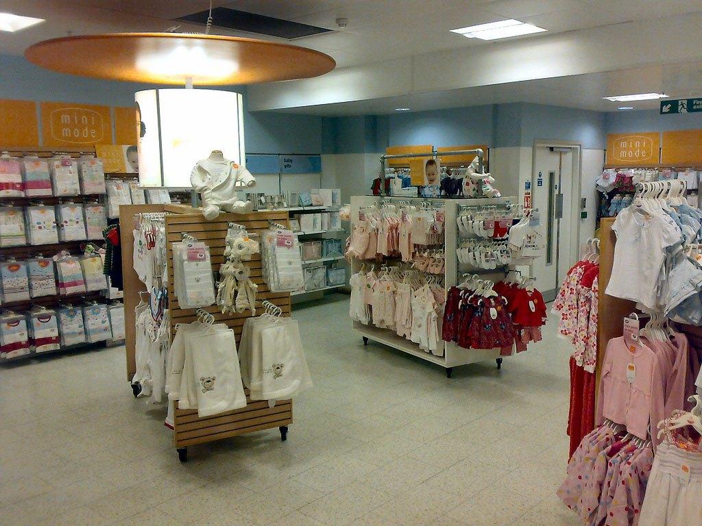 thiết kế nội thất cửa hàng quần áo trẻ em