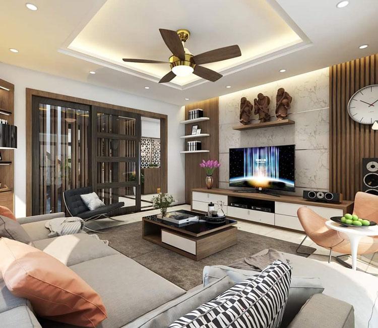 Thiết kế nội thất nhà phố 2 mặt tiền
