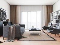 thiết kế nội thất phòng khách nhà chung cư
