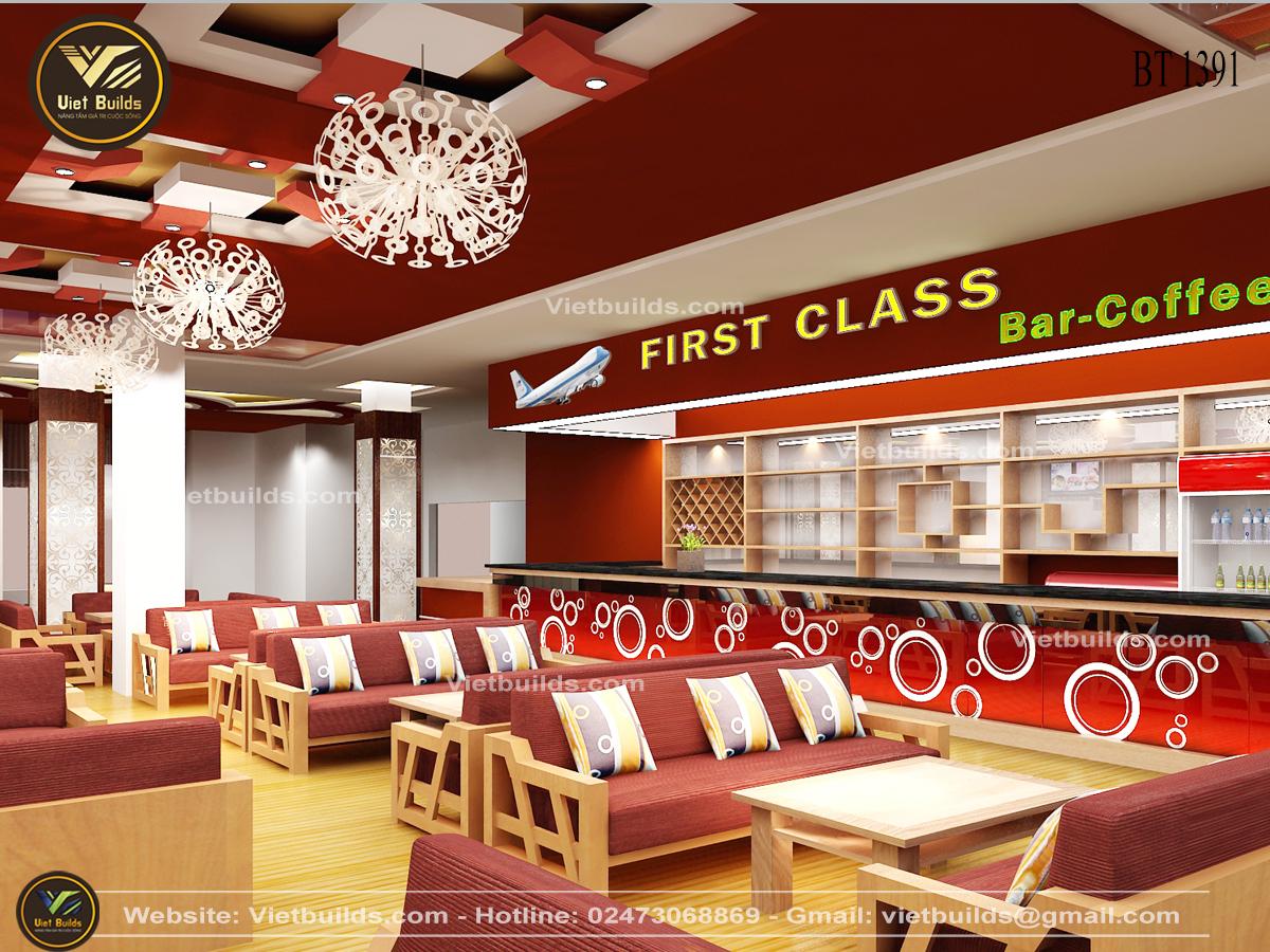 Mẫu thiết kế nội thất quán cà phê đẹp đẳng cấp NT1391