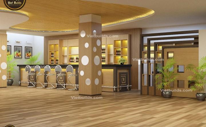 Mẫu thiết kế quán cà phê đẹp tại Phú Thọ NT1409