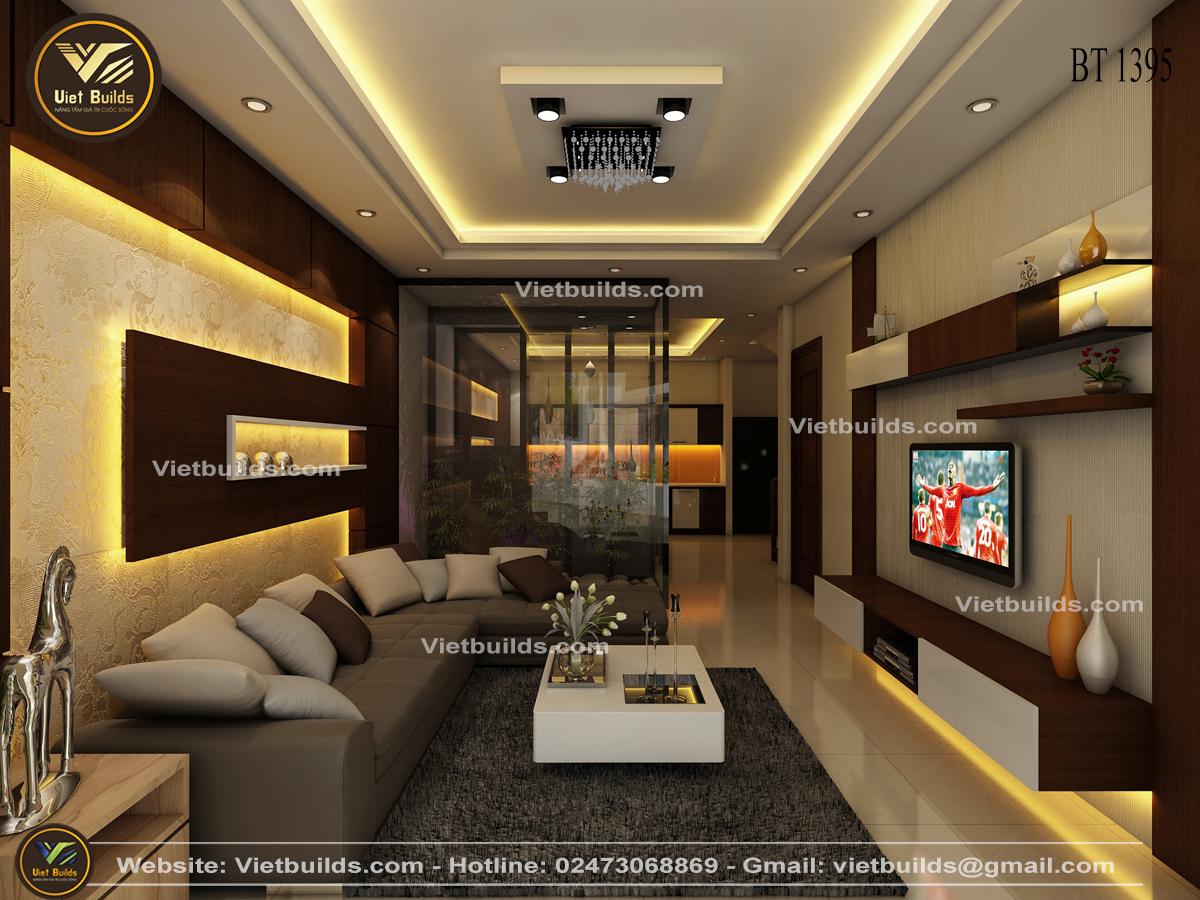 thiết kế nội thất phòng khách nhà phố