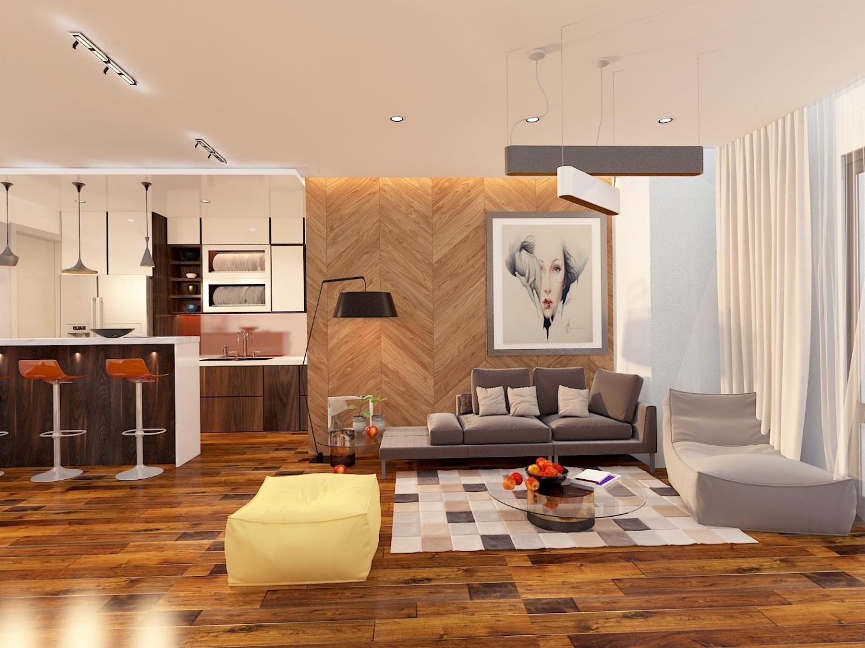 thiết kế nội thất chung cư ecolife capitol