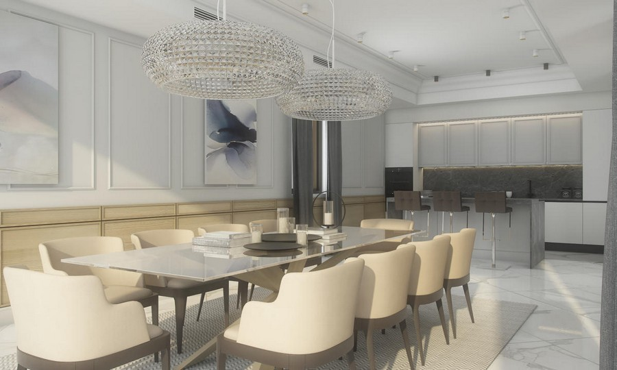 thiết kế nội thất nhà bếp biệt thự