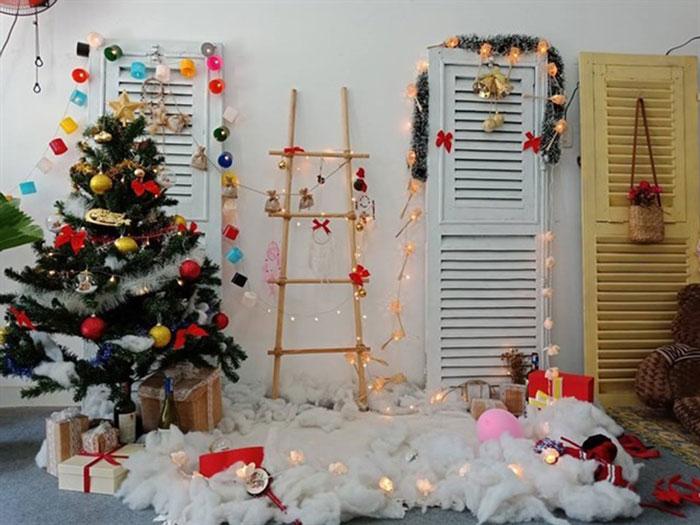 trang trí văn phòng đón giáng sinh