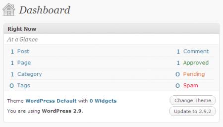 Ẩn widget Righ Now trong WordPress Admin Dashboard