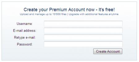 Đăng ký tài khoản RapidShare Premium miễn phí