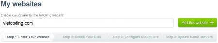 Bước 1: Nhập vào domain của bạn