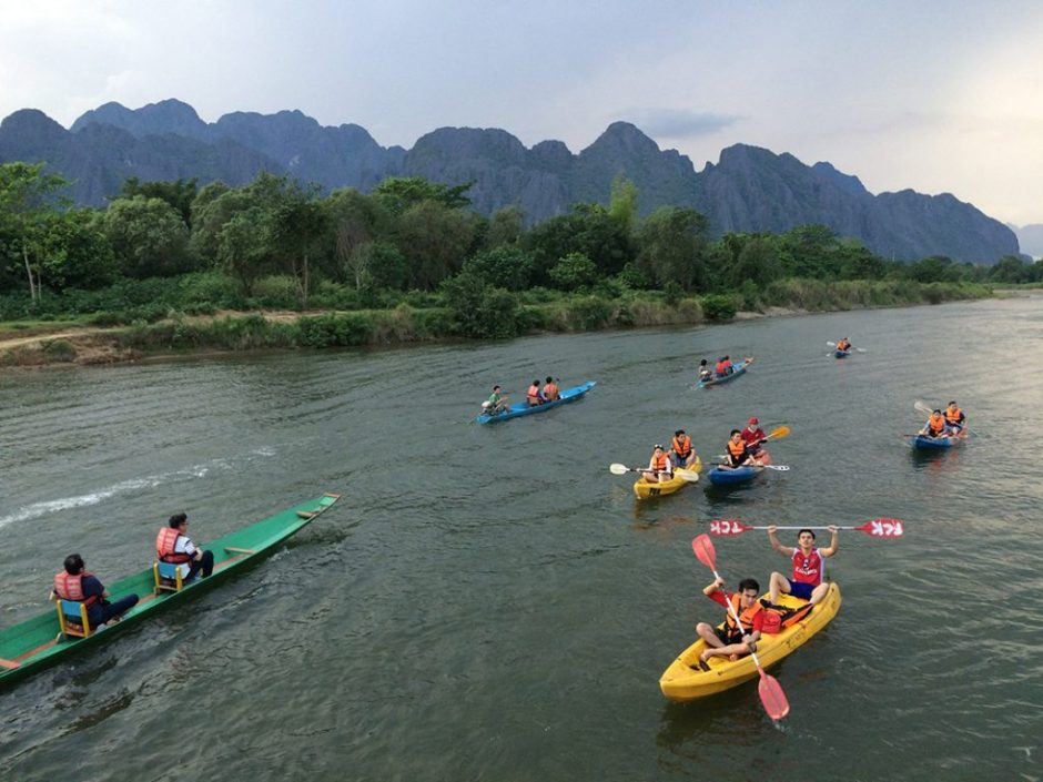 Kayaking on Nam Ou River