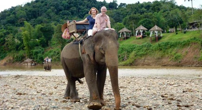 LAOS TOUR OF RIDING ELEPHANTS IN ZEN NAMKHAN RESORT