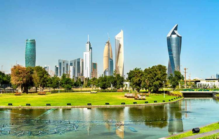 The city of Kuwait
