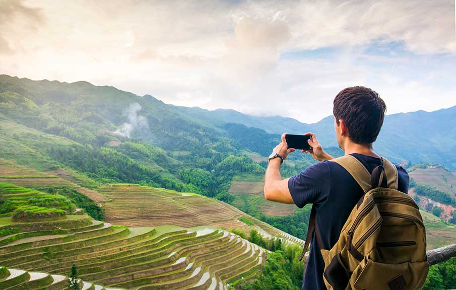 Man taking photo of Vietnam
