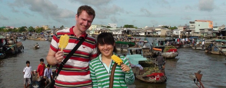 Cai Rang Floating Market (nabij Can Tho, Mekong Delta)