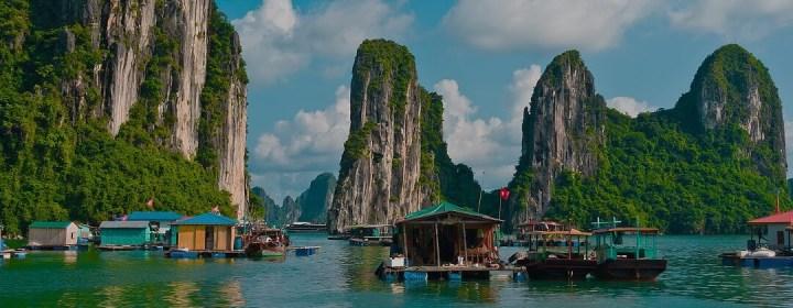 Vissersdorp - Halong Bay, Vietnam