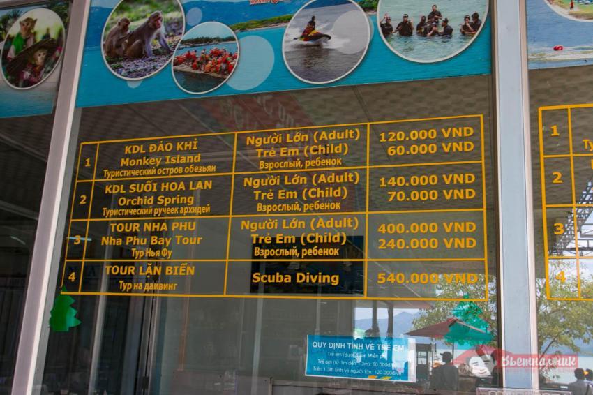 Цены на северные острова на стекле кассы