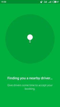 Grab Bike. Поиск водителя