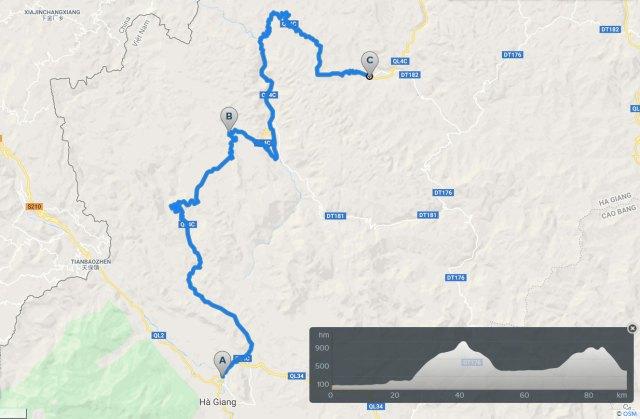 cycling map ha giang quan ba yen minh