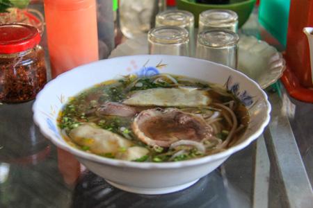 Bun Bo Hue or Hue Style Beef Noodle Soup