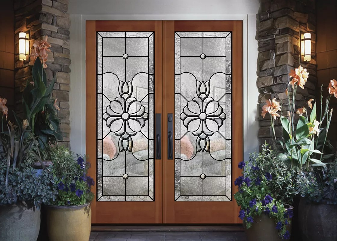 wood frame dedorative glass sliding door black patina internal glass sliding doors
