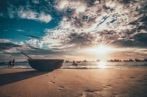 Ảnh buổi sáng ở biển Phan Thiết 1