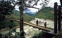 May bridge on Muong Hoa River