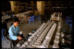 Ceramics factory, Bat Trang. Vietnam