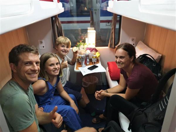 Lotus express train passengers